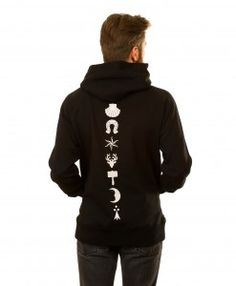 Heraldic Backbone Hoodie in Black Hoodies, Grey, Sweaters, Collection, Black, Fashion, Gray, Moda, Sweater