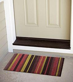 """Alfombra de entrada """"Come In"""" Felpudo. Composición 100% vinílica. 45x75cm. Color franjas Lima: Amazon.es: Hogar. 22,99€."""