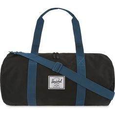 HERSCHEL SUPPLY CO Herschel medium duffel bag (£55) ❤ liked on Polyvore featuring bags, luggage and ink blue