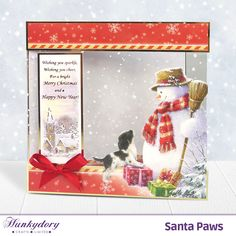 Hunkydory Santa Paws Ultimate Bundle - Includes Card Collection, Inserts and Paper Pad Christmas Cards To Make, Xmas Cards, Handmade Christmas, Christmas 2019, Acetate Cards, Hunkydory Crafts, Create And Craft, Heartfelt Creations, Hunky Dory