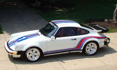 Porsche 930 with Martini stripes