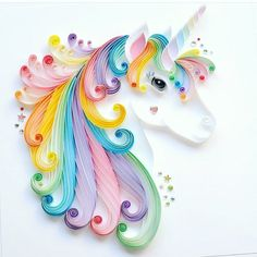 "136 Likes, 11 Comments - Estamae (@esta.m.a.e) on Instagram: ""Who else is getting starry eyed looking at this unicorn quilled beauty?! @thebeehivedesign makes…"""