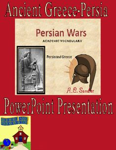Ancient Greece: THE PERSIAN WARS--ACADEMIC VOCABULARY TERMS PowerPoint Presentation 19 academic vocabulary terms needed to comprehend the Persian Wars. --Definitions, illustrations, Greek roots, used in sentences--This is way better than a glossary or dictionary because here the pictures clarify the meanings and all the words are used in context. All the slides are taken from my presentation on The Persian Wars.  16 SLIDES $