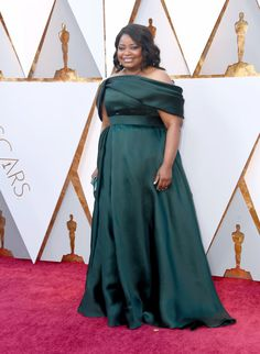 Octavia Spencer in Brandon Maxwell  - The Best Dressed On The 2018 Oscars Red Carpet - Photos  I love her! and I love the color of this dress!