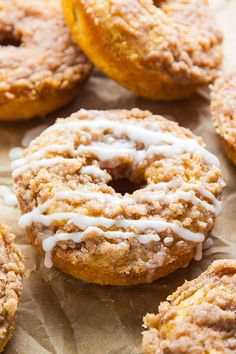 Baked, not fried, these Coffee Cake Donuts are ready in less than 30 ...