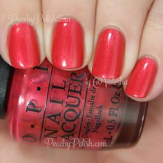 OPI Go With The Lava Flow | Spring 2015 Hawaii Collection | Peachy Polish