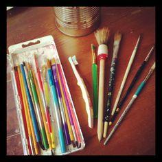 art journaling on a budget -- for under 10 bucks!