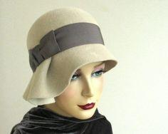 Asymmetrical cloche hat