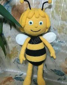 Amigurumi Knit Toy Models - Amigurumi Wegbeschreibung Maya the Bee (Anlatımlı . Crochet Amigurumi, Amigurumi Doll, Plush Dolls, Crochet Dolls, Easter Crochet, Cute Crochet, Crochet Crafts, Crochet Projects, Crochet Mignon