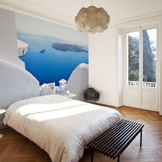Eazywallz  - View from Santorini Wall Mural, $125.13 (http://www.eazywallz.com/view-from-santorini-wall-mural/)