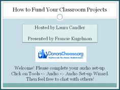 Corkboard Connections: Get Money for Your Classroom Projects! (Free webinar on how to write a great DonorsChoose proposal.)