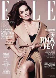 Tina Fey covers ELLE November 2014 issue. // Photo by Paola Kudacki