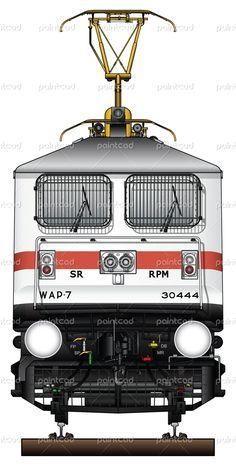 Electric locomotive class WAP-7 owned by Indian Railways