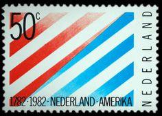 1982 | Heleen Tigler Wybrandy-Raue | rood, blauw | diagonale strepen