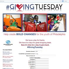 Boys & Girls Club of Philadelphia #GivingTuesday #Donation page submission for the $500 Greater Giving Contest @bgcofamerica Donate to their page today!