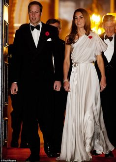 William and Catherine at a dinner and reception at St. James palace.
