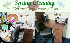 Spring Cleaning begins! Office Organizing Tips to Get You Back to Work and Out of Chaos! #shopletreviews