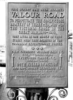 Winnipeg Tribune Photo Collection : Victoria Cross Winners : Archives & Special Collections : Libraries : University of Manitoba I Am Canadian, Canadian History, Meanwhile In Canada, University Of Manitoba, Street Names, Remembrance Day, True North, World War One, Cool Countries