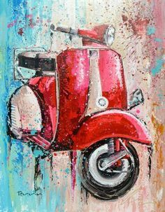 Image result for fence art painting vespa