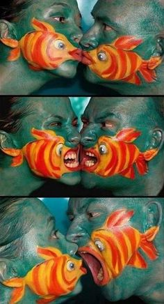 Totally loved this human paint art