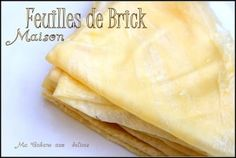 Feuilles de brick maison inratable ou feuille dyouls algérienne Tunisian Food, Vegetarian Recipes, Cooking Recipes, Finger Foods, Macarons, Crepes, Love Food, Entrees, Food Porn