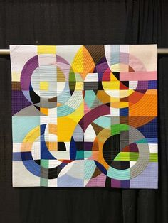 """Flow"", Susan Wessels, South Africa. San Francisco Stitch Co.: Mancuso World Quilt New England"