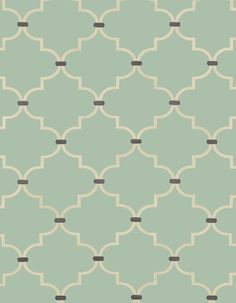 pastel green and off-white graphical pattern fabric. good for binder cover.