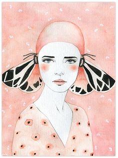 Butterfly girls, illustration by Sofia Bonati - Ego - AlterEgo Art Inspo, Kunst Inspo, Art And Illustration, Sofia Bonati, Drawn Art, Ouvrages D'art, Art Moderne, Art Graphique, Art Design