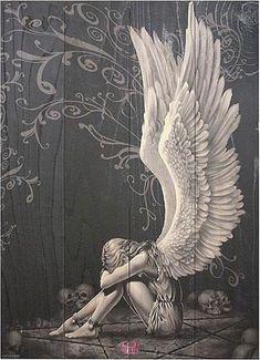 Enslaved Angel Wooden Art