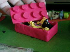 Lego polymer clay box.  For Webelos Craftsman.