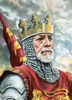Painting of Edward I King of England from 1272 to 1307 also known as Edward Longshanks and the Hammer of the Scots - 23rd great grandfather