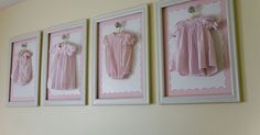 Frame Baby Girl clothes Display.