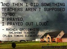 Oklahoma -teacher prayer