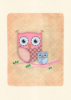 Cute Owl nursery art print. Kids room wall art. Sweet cute character for wall decor. Bird image for children. Fits 8x10 frame opening. $16.00, via Etsy.