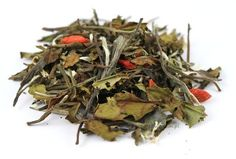 Herbata biała+zielona aromat. Mantra | www.herbatkowo.com.pl  Niezwykle aromatyczne połączenie herbat zielonych i białych z dodatkiem jagód goji
