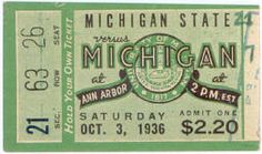 1936 at Ann Arbor: Michigan State 21, Michigan 7