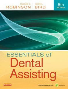 This valuable money-saving package includes: Essentials of Dental Assisting, 4e, Workbook for Essentials of Dental Assisting, 4e, and Boyd: Dental Instruments 3e. Call Number : RK 60.5 E37 2013