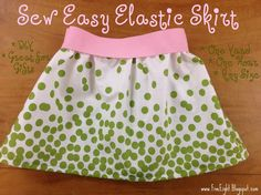 DIY Sew Easy Elastic Skirt, Tutorial Elastic waist band skirt