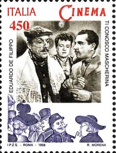 Italy Stamp 1998 -  Cinema Ti Conosco Mascherina