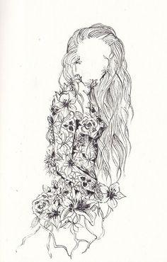 flower girl sketch