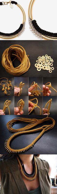 12 Interesting And Useful Daily DIY Ideas, DIY Box Braid Necklace #DIY #Collier #Bijoux
