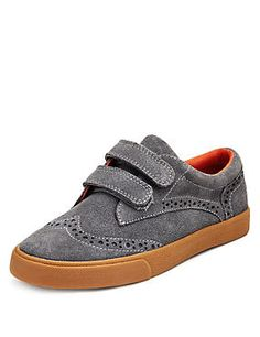Suede Riptape Brogue Shoes (Younger Boys)