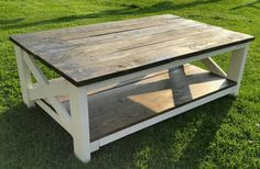 Coffee Table made with pallets.  Made by Stevensville Pallet Project
