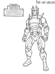 Coloriage Fortnite Battle Royale Personnage 4 224 Imprimer