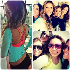 Very cute workout look from Free People & LL @Katrina & Karena TIU!  Thx 4 sharing! Tone It Up! Blog - Wild Wednesday!!! www.toneitup.com