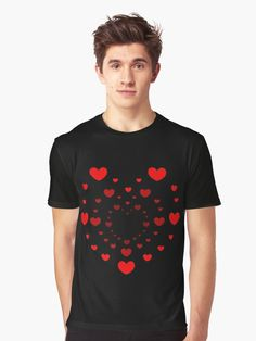 Hearts for my Valentine Graphic T-Shirt Designed by iRenza. Best Friend Shirts, Dad To Be Shirts, Family Shirts, T Shirts For Women, Love Shirt, Cute Tshirts, Men's Clothing, Tshirt Colors, Valentine Gifts