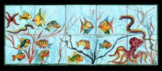 FUN FISH MURAL! PERFECT FOR A CHILD'S BATHROOM!