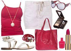 Color rojo y blanco