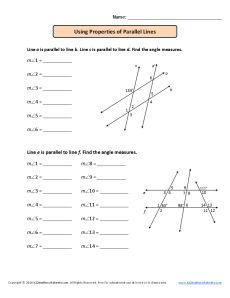 Supplementary Angles | Worksheets, Math and Geometry