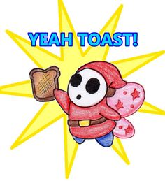 Return of the Toast Guy, now with wings! Mario And Princess Peach, Super Mario Bros, Pikachu, Toast, Fan Art, Deviantart, Guys, Comics, Glitch
